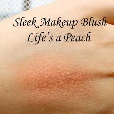 sleek makeup blush in life s a peach review and swatches