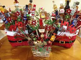 liquor gift baskets i made 2 something like these for our gift exchange
