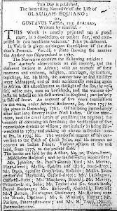 an advertisement for the interesting narrative back to top main olaudah equiano page