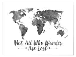 World Map Posters Premium Poster Watercolor World Map