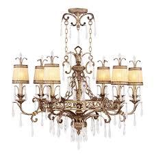 livex lighting 6 light vintage gold leaf incandescent ceiling chandelier
