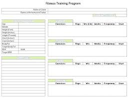 Resistance Training Program Template Workout Plan Fitness