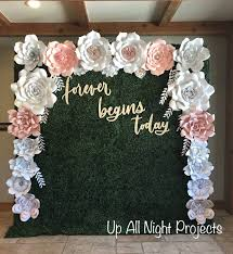 Paper Flower Wedding Backdrops Paper Flower Backdrop Or Wall Decor Giant Paper Flowers