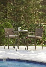 patio balcony furniture. cosco outdoor 3 piece high top bistro lakewood ranch steel woven wicker patio balcony furniture set 4