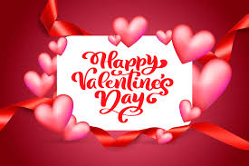 Typography Design Template Vector Text Happy Valentines Day Typography Design For