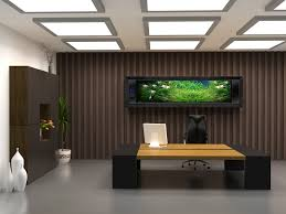 interior designing contemporary office designs inspiration. Stylish Manager Office Design With Plank Desk Dark Brown Wall Classy Mounted Aqua Scape Inspirational Ceiling Lamp Modern Contemporary Interior Designing Designs Inspiration