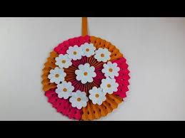 diy wall hanging home decoration ideas paper flower wall hanging handmade craft ideas bdiy