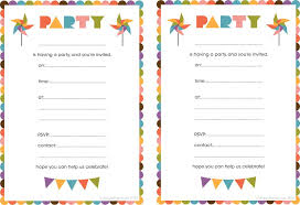 printable invitations for kids printable birthday invitations on kids birthday invitations images