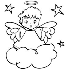 Small Picture Free Printable Angel Coloring Pages For Kids