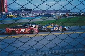 tbt dale earnhardt sr jr michael waltrip stopped for red flag at daytona 2001