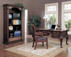 classic home office furniture. Office Workspace. Classic Home Design With Traditional Teak Chairs Over Decorative Beige Carpet Ideas Furniture W