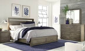 aspenhome modern loft queen storage bedroom