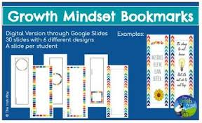 Bookmark Designs To Print Growth Mindset Student Bookmark Creation Project Digital Or Print Editable