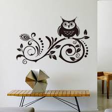 larger art vinyl wall stickers decal large black owl room decor wall stickers home decor wall decor stickers bedroom wall decals with 10 06 piece on