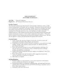 Computer Technician Job Description Resume Best Photos Of Technician Job Description Template Computer 15