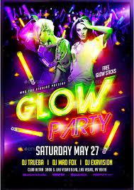 glow flyer glow party flyer twain flyers