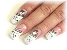 Picture 5 of 11 - White French Tip Acrylic Nail Designs Ideas ...