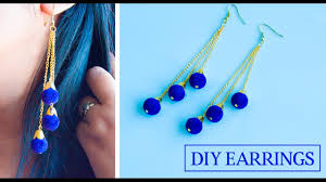 How To Design Earrings Jewellery How To Make Earrings At Home Diy Earrings Jewelry Making Beads Art
