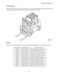 caterpillar cat dp25k mc forklift lift trucks service repair manual s Mitsubishi 4G64 Forklift Engine Mitsubishi 4g64 Engine Diagram #30