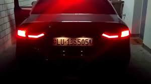 Audi A4 Back Lights Audi A4 B8 Dectane Led Backlights Youtube