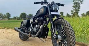 modified royal enfield doing a great