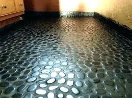 river rock floor tile shower stone problems