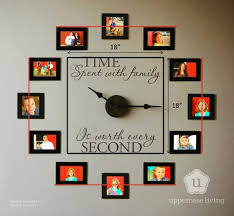 view in gallery family photo wall clock wonderfuldiy1