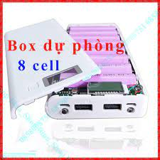 Box sạc dự phòng 8 cell LCD 2.1A - Pin sạc dự phòng di động Thương hiệu No  Brand