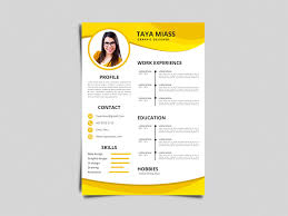 Free Yellow Timeline Resume Template By Julian Ma On Dribbble