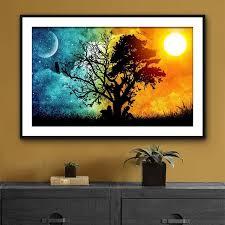 moon painting moon wall decor moon room