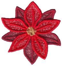 Poinsettia Designs Fsl Poinsettia Embroidery Design