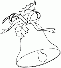 Printable Christmas Coloring Page Large Bell Coloring Home