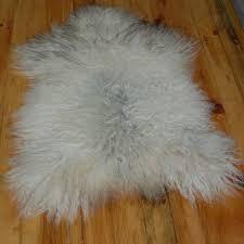white curly icelandic sheepskin rug