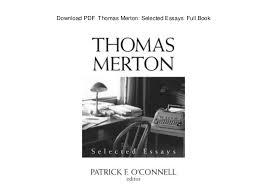 pdf thomas merton selected essays full book pdf thomas merton selected essays full book