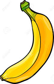 Banane Dessin Noir Et Blanc Cartoon Illustration De Banana Fruit