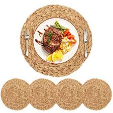 Amazon.com: HomeDo 4Pack Extra Large Round Woven <b>Placemats</b> ...