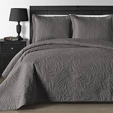 Oversized King Bedspreads: Amazon.com & Comfy Bedding Extra Lightweight and Oversized Thermal Pressing Leafage  3-piece Coverlet Set (King/Cal King, Grey) Adamdwight.com