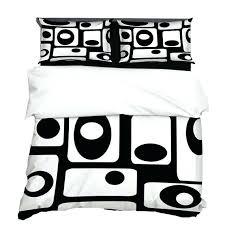black white retro duvet cover home decor bedding mid century modern bedroom geometric mod covers se