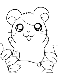 Hamtaro Pictures Coloring Home