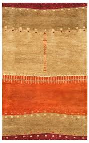 mojave new zealand wool area rug 5x8 maroon red tan orange beige brown abstract