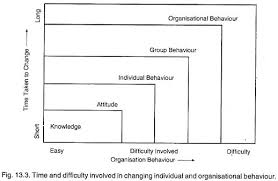 essay on organisational behaviour time and difficulty involved in changing individual and organisational behaviour