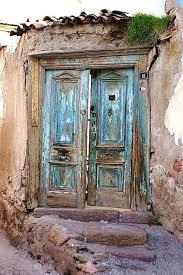 an old door at ankara castle turkey