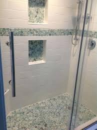 shower remodel glass tiles. Simple Shower Glass Tile Shower Floor New Pebble Throughout Best Ideas  On Tiles Remodel Cleaning On Shower Remodel Glass Tiles L