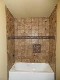 tub surround with single built in shower shelf marazzi montagna bathtub tile surround