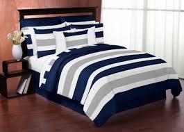 navy blue gray and white stripe 4