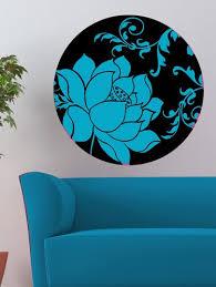 fl motif in blue wall decal