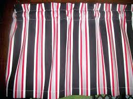 strip black and white kitchen curtains