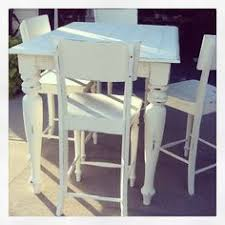 annie sloan old white heavily distressed pub style table and chairs