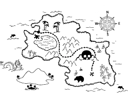 Treasure Map Coloring Page - Get Coloring Pages