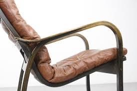 yngve ekström swedese mid century swedish leather lounge chair vintage design 1960s 1970s lederen